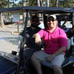 2 Golfers, Golf Cart - 2017 HAPL Golf Tournament