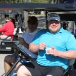 2 Golfers, Golf Cart 3 - 2017 HAPL Golf Tournament