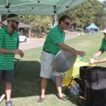 Adam Chapman, TJ Westerhaus, Richard Hines, Serving Jambalaya - 2017 HAPL Golf Tournament