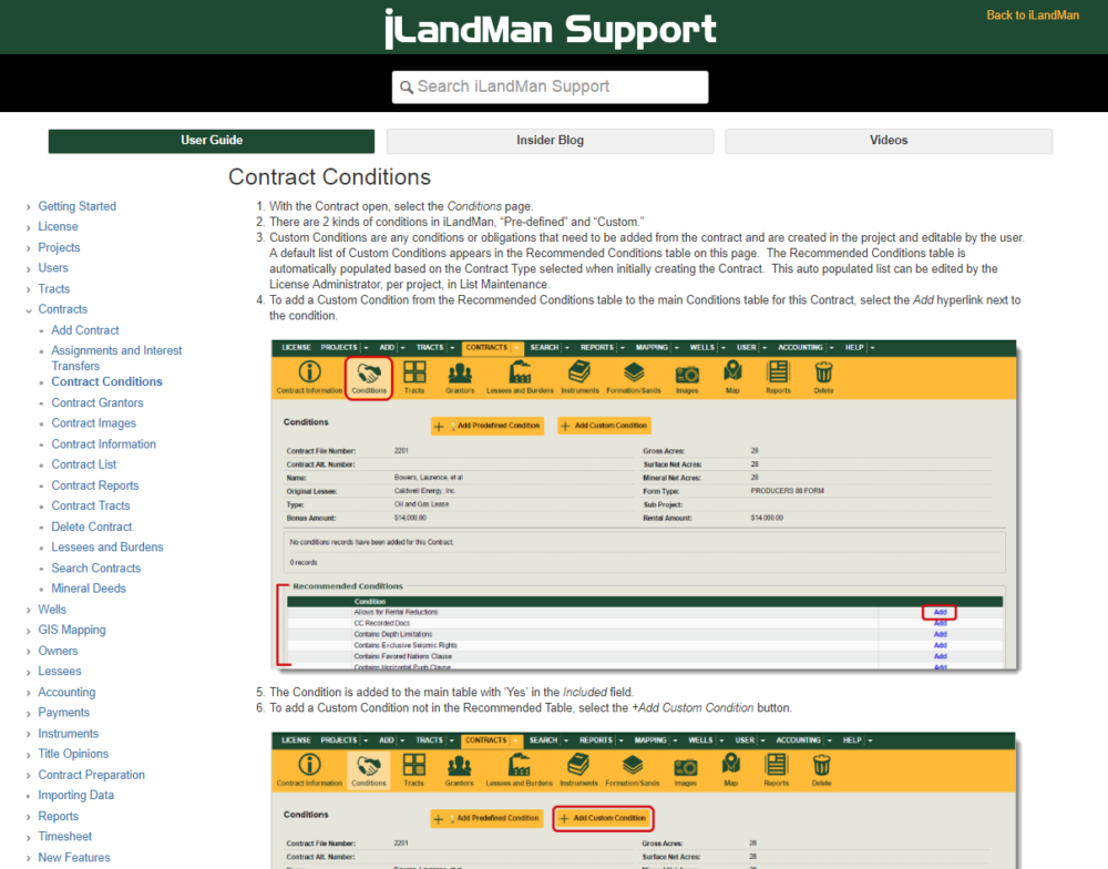 Dyanmic Help Menu and User Guide - iLandMan
