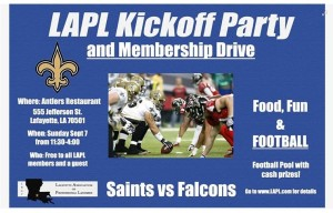 LAPL Kickoff Party Flyer