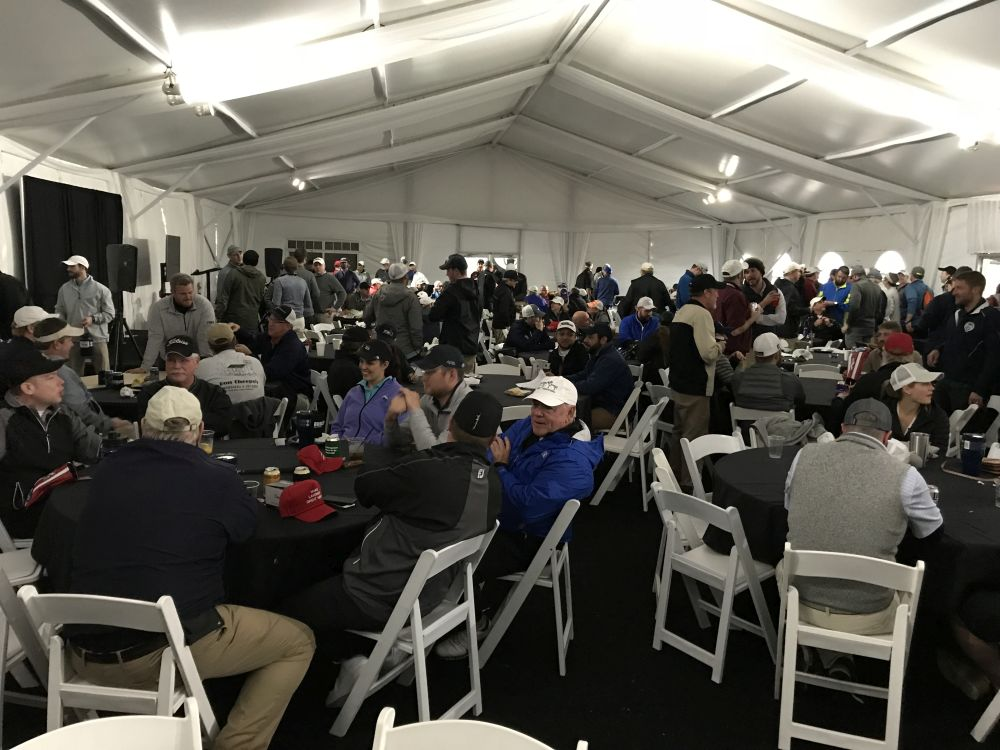 Main Tent After Golfing - 2018 HAPL Golf Tournament