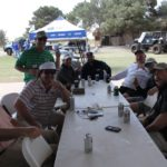 PBLA Golfers, Richard Hines, Cigar Break - 2018 PBLA Golf Tournament