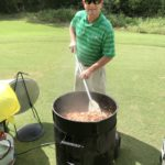 Richard Hines Cooking Jambalaya - 2018 DAPL Golf Tournament