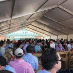 Shrimp Boil Crowd Under Big Tent