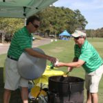 TJ Westerhaus, Richard Hines, Serving Jambalaya - 2017 HAPL Golf Tournament