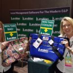 Tiffany Patterson, Sarah Caldwell With Prizes - 2017 NALTA Annual Conference