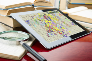 iPad iLandMan Map Magnifying Glass Books